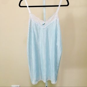 """Undercover Wear"" Sky Blue Babydoll/Long Cami (L)"